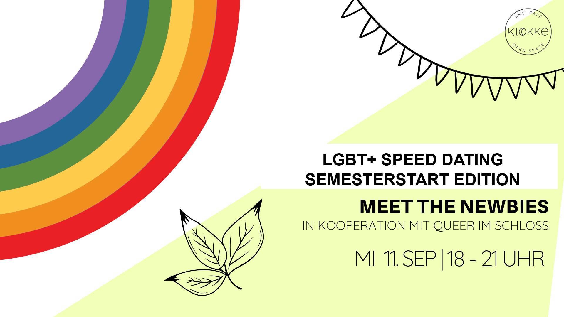 LGBT+ Speed Dating – Semesterstart Edition, 11.09.19, 6 PM
